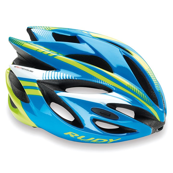 Casco da cislismo RUDY PROJECT Rush 2018 azur-lime fluo shiny
